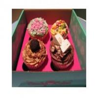 Gourmet Cupcakes Cupcakes Selection Box of 4