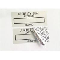 Buy cheap Low Residue VOID Printable Security Labels With Matt / Glossy Silver from wholesalers
