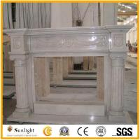 Buy cheap Culture Stone Indoor white marble fireplace, Stone fireplace mantel product