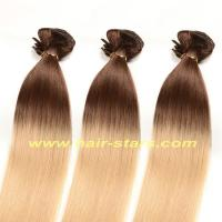 Human hair weft / extension T-colors clip in hair extension