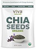 China Viva Naturals - The FINEST Raw Organic Chia Seeds, 2 lb Bag (Packaging May Vary) on sale