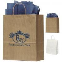 10x12 Manhatttan Uptown Striped Paper Tote Bag