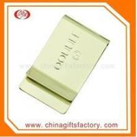 China wholesale high quality custom gold plated blank metal laser logo metal money clip on sale