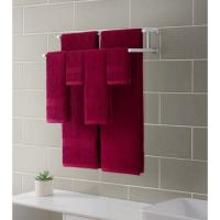 Downtown Collection Ribbed Luxury 6-Piece Towel Set, Scarlet Red