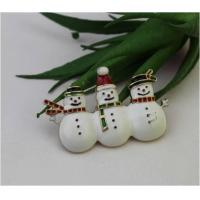 Buy cheap Brooches Christmas Jewelry Holiday Happy Snowman Face Brooch Pin from wholesalers