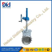 Buy cheap CF8 16 knife gate valve with belvel gear, gate valve working 150 ℃ product