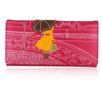 Buy cheap 58012 Girl with umbrella cityscape long purse from wholesalers