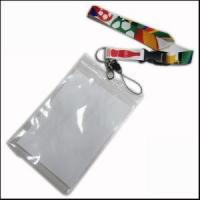 Buy cheap Big PVC ID Card Holder Polyester Lanyard Production from Zhanhong product