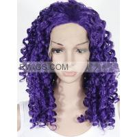China Synthetic hair 20〃 Violet Curly Cosplay wigs Synthetic lace front wigs on sale