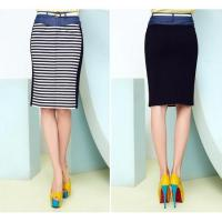 Women's Skirts Trend in patchwork pencil skirt with slit front hem J4181Q