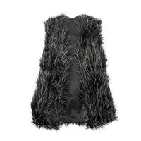 Women Winter Warm Faux Fur Vest Waistcoat Long Hair Outwear