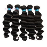 virgin human hair weft 6a grade loose deep wave