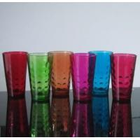 Buy cheap Drinking Glasses Machine Made 16 Oz Colored Pint Glass Cup With Embossed Pattern product