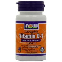 China Alternative Remedies Now Foods Vitamin D-3 1000 IU Chewables, Fruit Flavor, 180-Count on sale