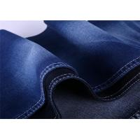 China Cotton warp slub denim low rise jeans fabric on sale