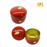 Buy cheap China tin can factory Red Oval Earings Storage Tin Box, Chinese Style Tin Box, Gift Tin Box product