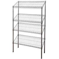 Buy cheap 4 Layers Slant Style Wire Shelving product