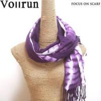 China Violet 100% Acrylic Pashmina Scarf Wrap Tie Dye on sale
