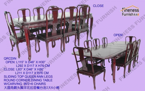 tables product namequeen ann legs round corner dining table