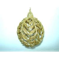 Buy cheap Acrylic/Plastic Ornaments Gold Acrylic Rose Leaves Ball(282265) product