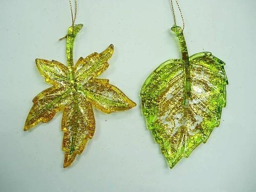 Quality Acrylic/Plastic Ornaments Foil Flat Leaf(266221FOI) for sale