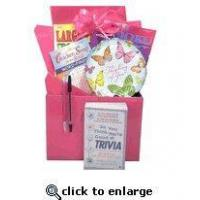 Buy cheap Gift for Cancer Patient |Boredom Buster Get Well Gift Basket with Book in Pink product