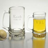Buy cheap Anniversary Gifts 15oz Glass Tankard Personalized Free product