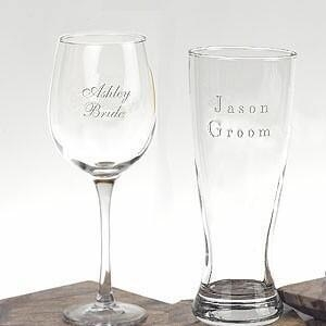 Quality Anniversary Gifts Personalized Wedding Glasses for sale