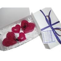 Buy cheap Black Raspberry Purple Decorative Hearts Soap in a Box from wholesalers