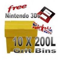 Buy cheap Offers with Free Gifts 10x 200 Litre Grit Bins with Free Gift product