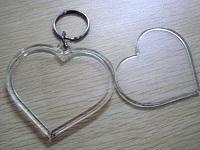 Buy cheap Blank Heart Acrylic Keychain product