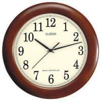 China 12.5in. Wood Analog Wall Clock by La Crosse on sale