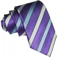 Buy cheap Necktie Purple Stripe Silk Tie product