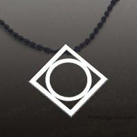 Buy cheap New Tocoy Tungsten Tungsten Pendant With Round Inside FA-T3020 product