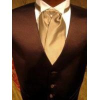 "Buy cheap Satin Tuxedo Vest - Chocolate Brown with ""Solid Fusion"" Champagne Ascot product"
