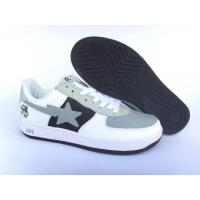 Buy cheap Bape New and Better shoes gray / white / black from wholesalers