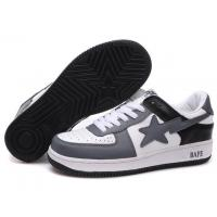 Buy cheap Bape New and Better shoes grey / white / black from wholesalers