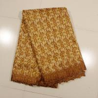 Sign Organza Lace Fabric , Coffee 4 - 5kgs Weight