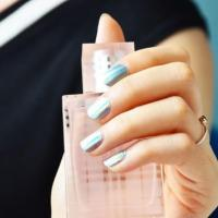 China Wholesale shinny holographic foil nail art sticker on sale