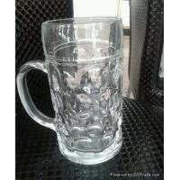 Buy cheap Glass Beer Stein 1000ml bump glass beer glass mug from wholesalers