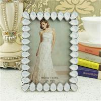 Buy cheap Metal photo frame/teardrop crystals photo frame product