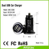 2015 fast charger mini USB car chargers 3.4A hot new products USB chargers for iphone ipad Samsung