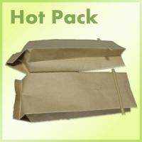 Buy cheap kraft paper side gusset bag with valve&tin tie from wholesalers