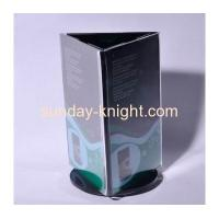 Buy cheap Acrylic three sided turntable menu holder HCK-015 from wholesalers