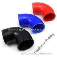 """Buy cheap 4"""" to 3"""" Black 90 degree Reducer Elbows Silicone Hose 102mm to 76mm product"""