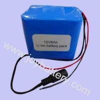 Buy cheap LiFeP04 Battery 12V 8Ah LiFePO4 battery pack from wholesalers