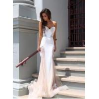 Buy cheap Fashion Women Lace Mermaid Sweetheart Court Train Evening Party Dress product