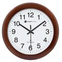 China Ambient Weather RC-1250CH 12.5 Atomic Radio Controlled Wall Clock, Cherry Finish on sale