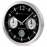 China Ambient Weather 12112BS 12 Precision Radio Controlled Analog Wall Clock, Date and Day of Week on sale