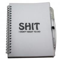 China Shit I Don't Want To Do Notebook and Pen Set on sale